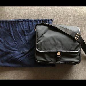 Prada Messenger Bag w/ Single Clip